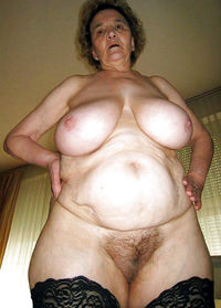 Bigboob older women in stockings think