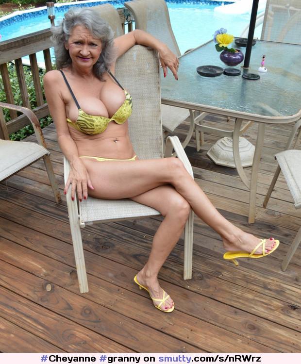 Grey hair big tits