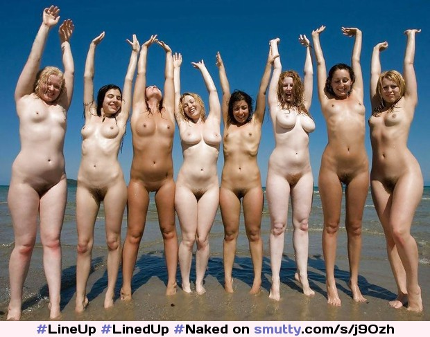 #LineUp #LinedUp #Naked #Nude #Group #Hot #Sexy #Beautiful