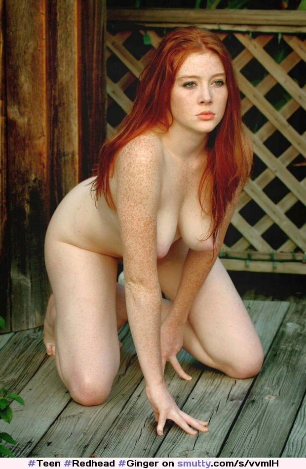 Pale Red Head Natural Big Tits