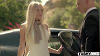 #cute #Blonde #teen #AlexGrey wants hard #anal from the driver #gif #collar #chocker #spinner #slender