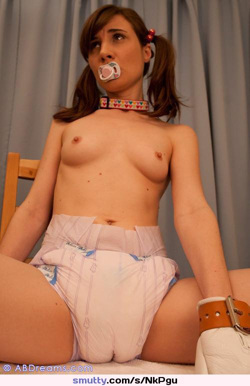 Adult pacifier slave girl