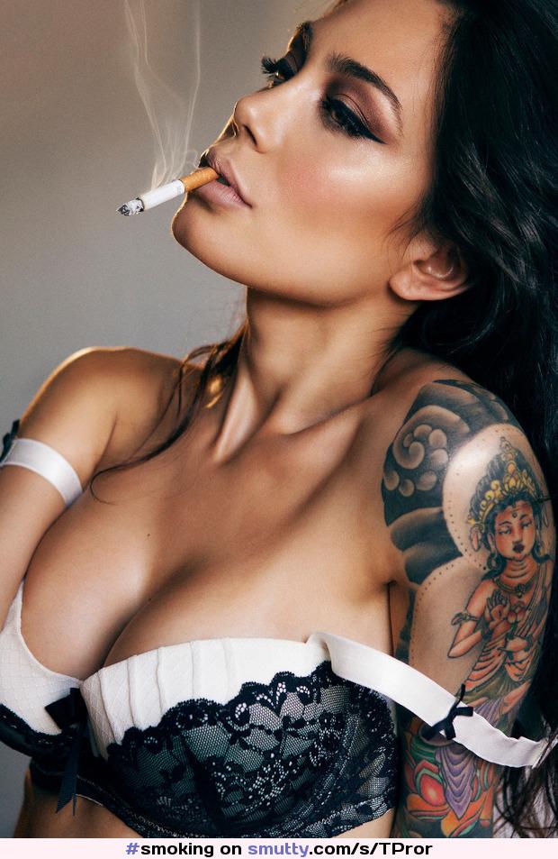 Emo smoking cigarettes asian