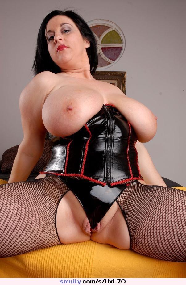 Chubby big tits in latex