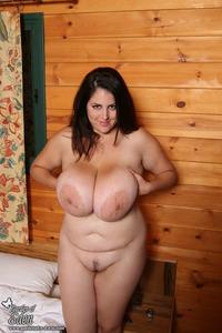 Brunette busty plumper