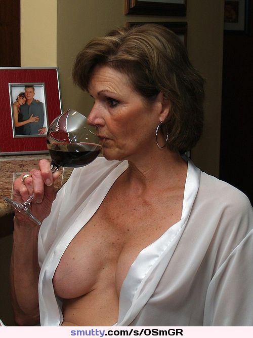 #brunette #milf #mature #hotmom #housewife #shirtopen #cleavage #wineglass
