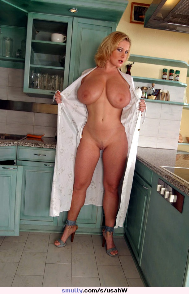 Blonde Milf In Kitchen