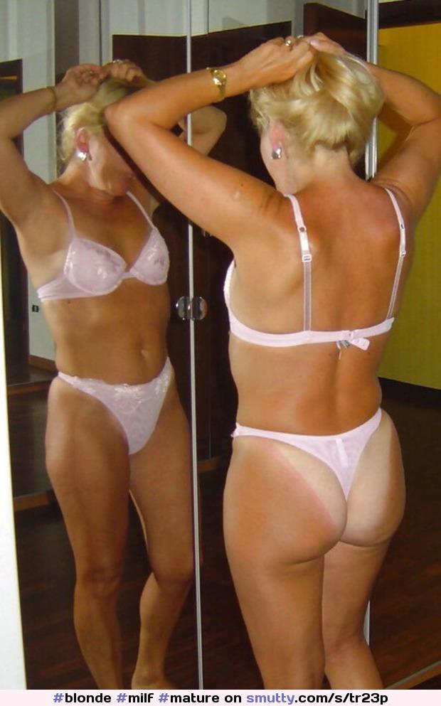 nude milf thong tanlines