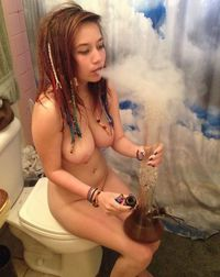 Amatuer pot smoker nude — img 6