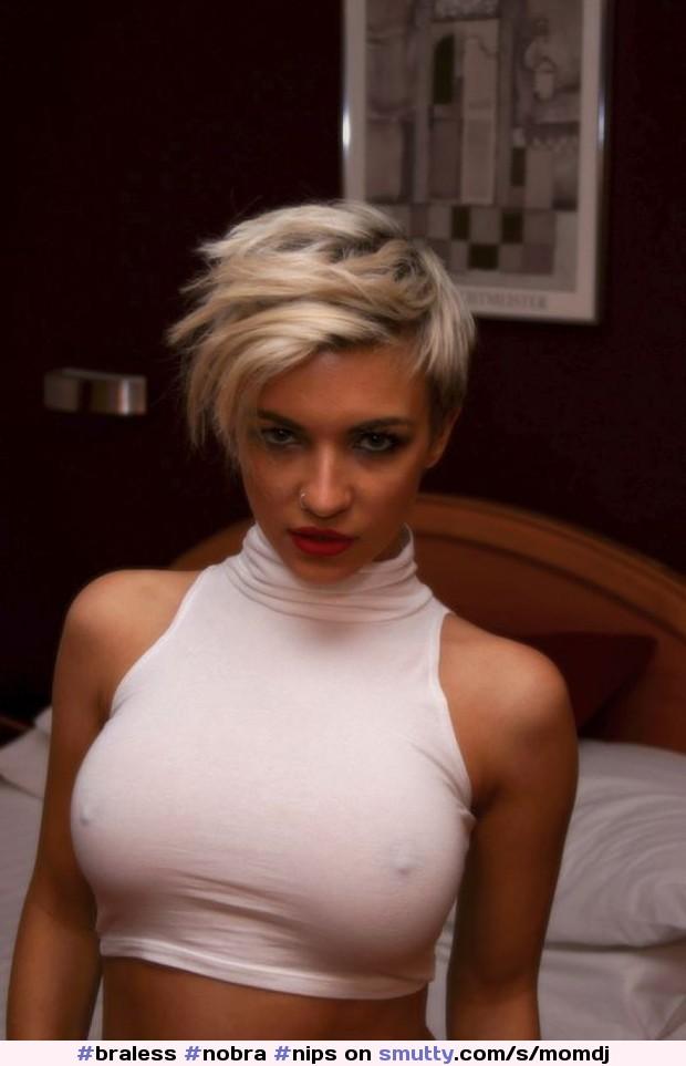 Short Hair Brunette Creampied After Sensual Blowjob