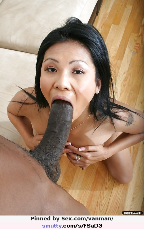 Asian black blowjob