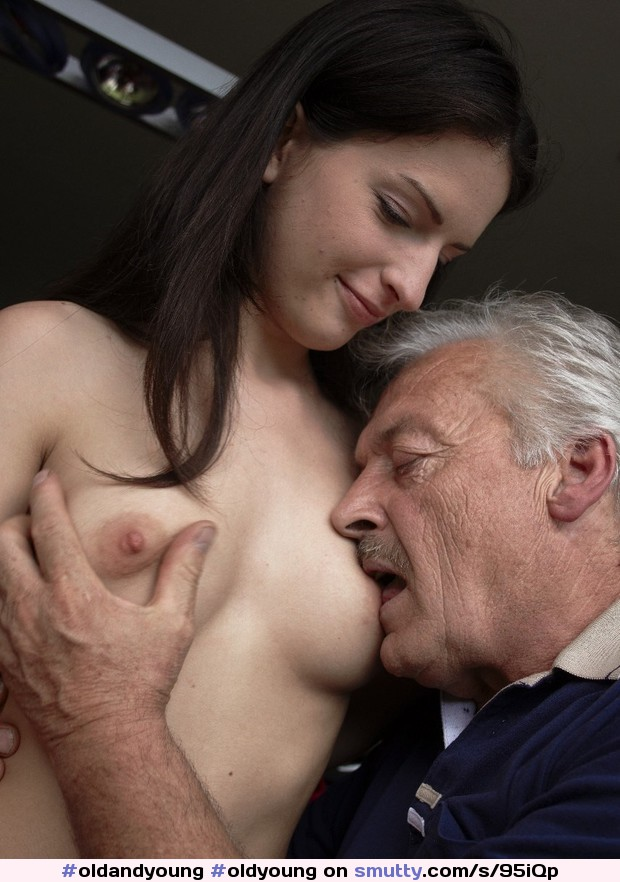 Old man with hot girl