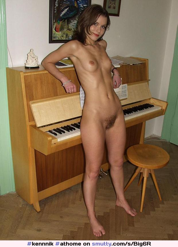 #athome #musician #Musicalinstrument #piano #smalltits #FlatStomach #hairypussy #hairy