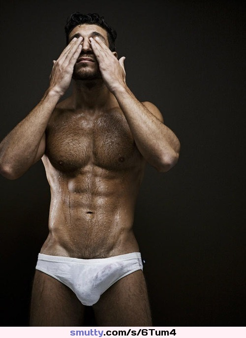 Young hairy muscular studs
