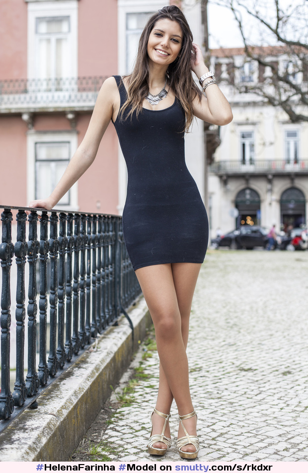 #HelenaFarinha #Model #legs #young #socute #minidress #blackdress #highheels # #? #*