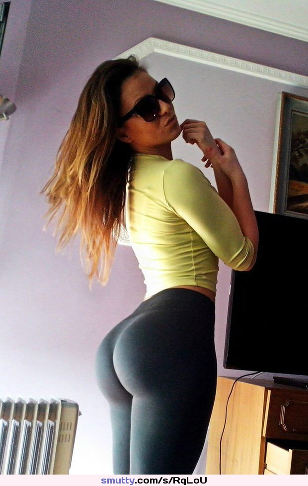 Young round tight female butts