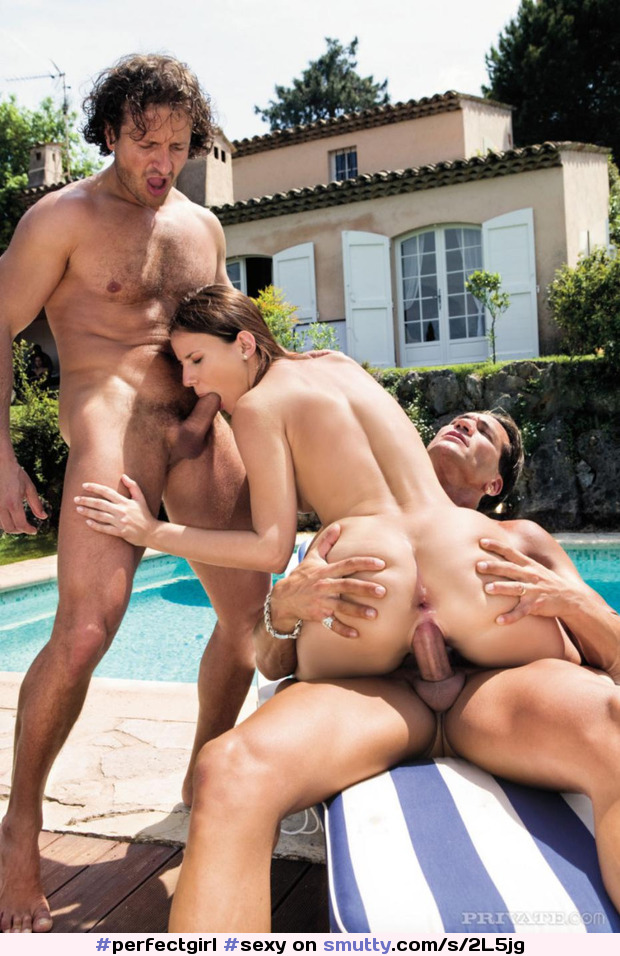 Hot Girl Gets Double Fucked On Poolside Patio Before Sucking Off Both Pmatehunter 1