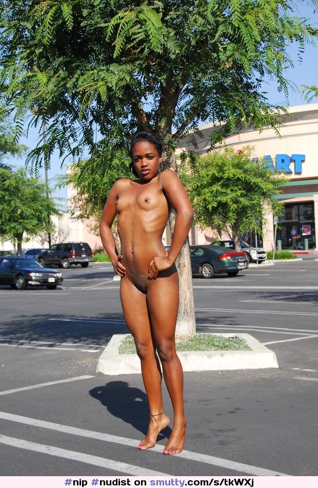 Female Nude Black Ebony Outdoors Beach Pussy Breasts