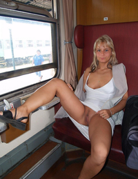 Really. agree Pussy flashing on train with