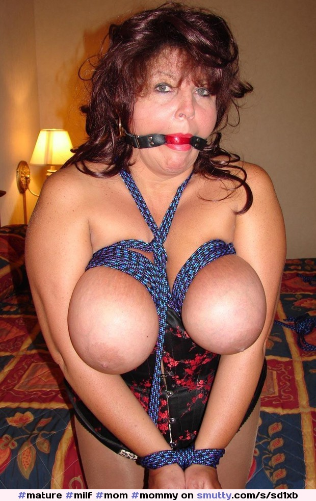 Submissive mature tied up and humiliated