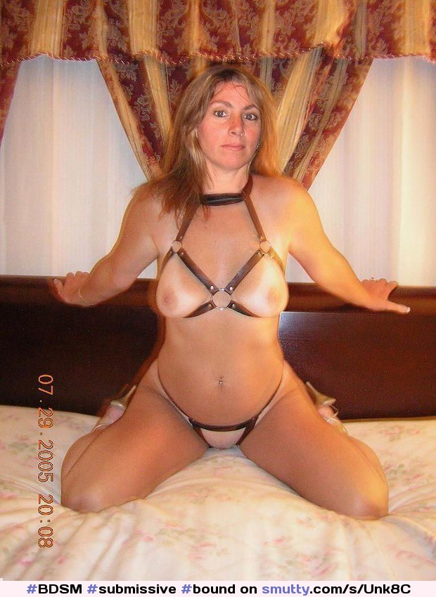 image Submissive milf restrained and dommed with rough sex