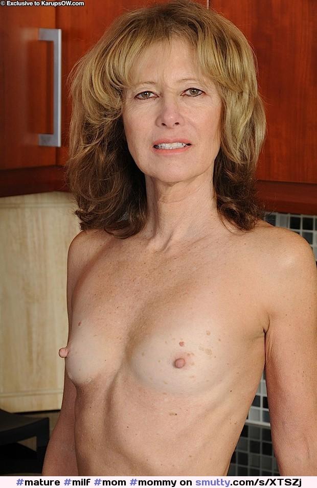 Mature hard nipples small tits downblouse