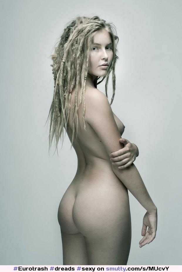Babe Blonde Dreadlocks Nude