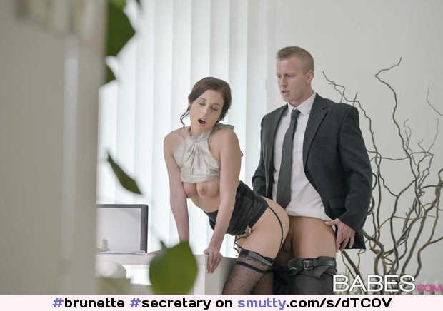 Doggystyle secretary brunette maid