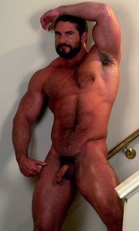 Muscle daddy cock