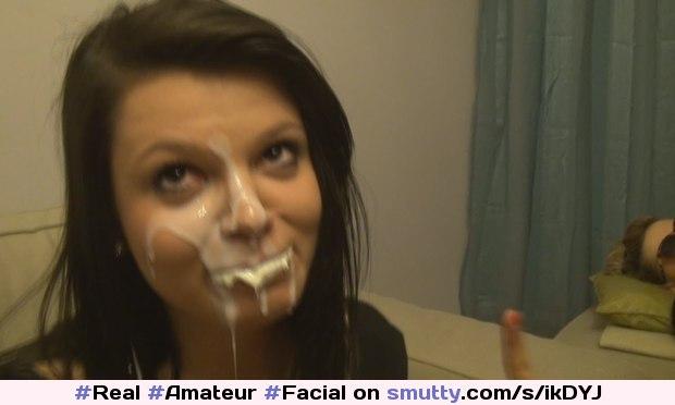 real amateur facial