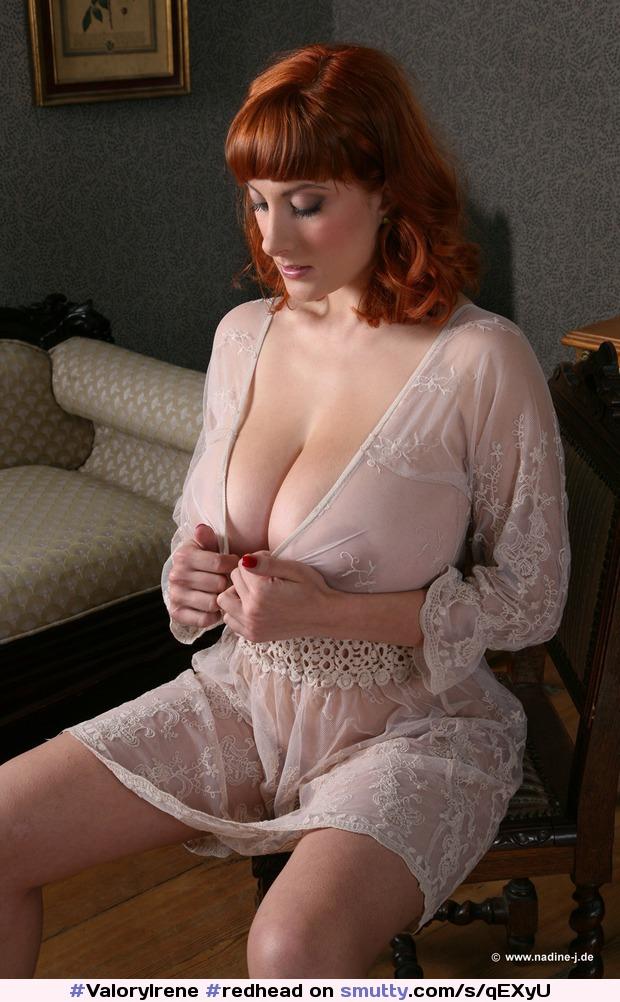 #ValoryIrene #redhead #massivetits #massiveboobs #hugetits #moo #seethrough  #nightgown #silk #seductive