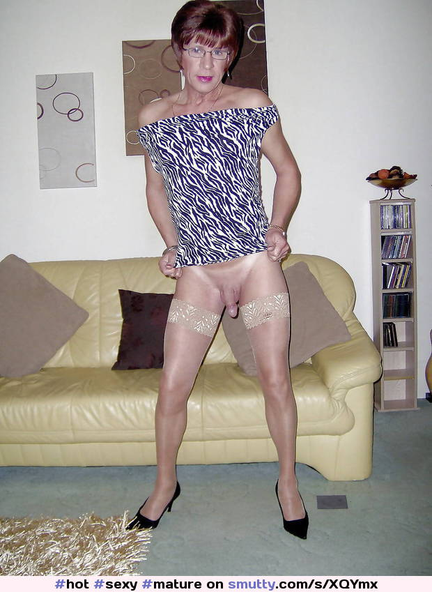 #hot #sexy #mature #crossdresser #readhead #smooth #shaved #cock