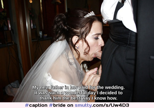 Wedding day blow jobs