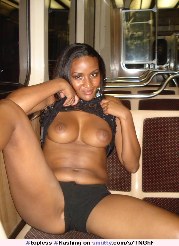 Black girls flashing their tits