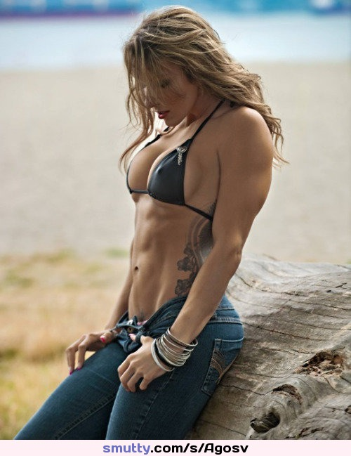 #nonnude, #muscular, #abs, #hardbody, #flatstomach, #jeans, #tattoo, #pokies, #bikinitop, #outdoors, #fit