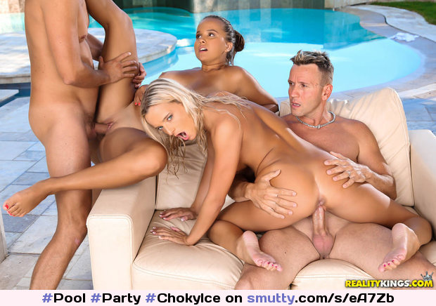 #Pool #Party FREE VIDEO #ChokyIce, #KristofCale, #OliviaNice, #VictoriaPure #groupsex #foursome