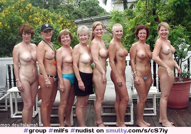 Mature nudist group
