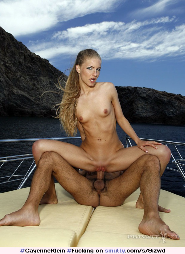 #CayenneKlein #fucking #outdoors #boat
