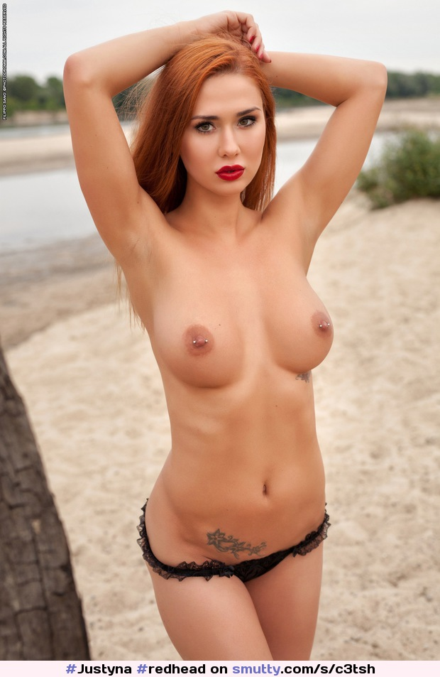 #Justyna #redhead #piercednipples #pierced #beauty #outside #nicetits