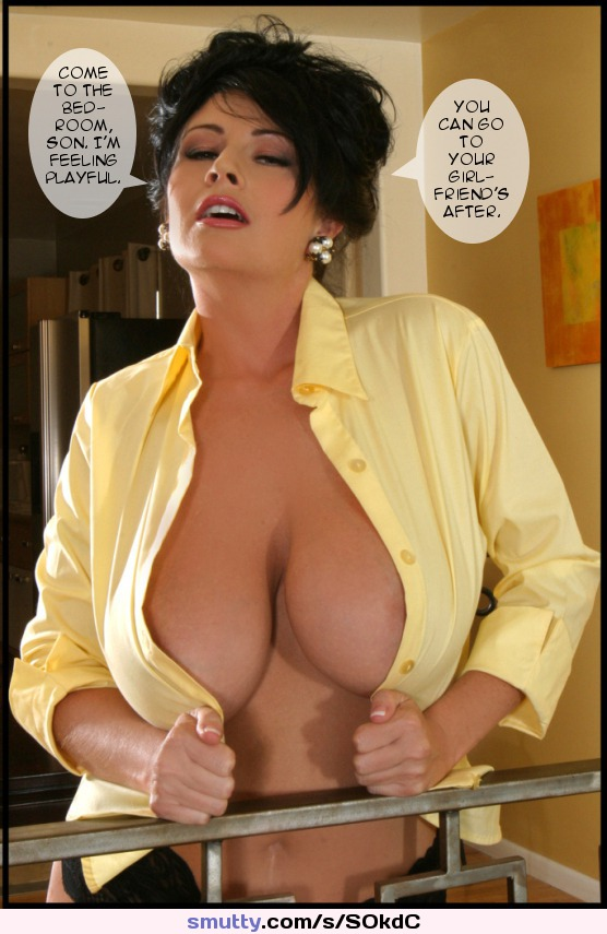 #mom #Momson #mother #motherson #caption #familyfun #bigtits #hugetits #milf #nonnude #nn #clothed #nipslip #shorthair #nipples #dressshirt
