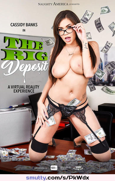 Cassidy Banks - The Big Deposit - FullHD 1080p #nylon#real_3d_and_vr#stockings