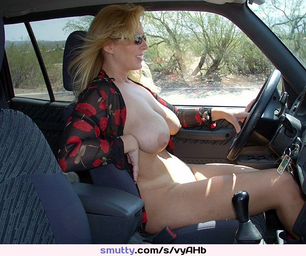#wife #mature #bigtits #PublicNudity #car #drivingnude #blonde
