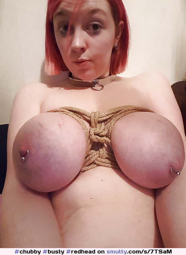 #chubby #busty #redhead #submissive #collared #slave #slut #bdsm #bondage #bigtits #tiedtits #piercednipples #redtits #swollentits #thankyou