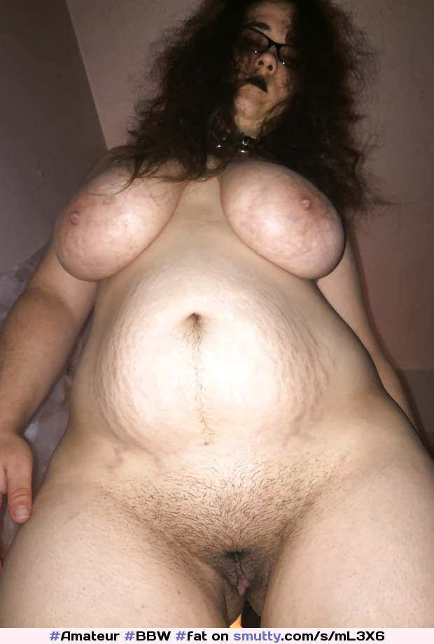 #Amateur #BBW #fat #fatwife #bigtits #heavytits #hugetits #hangers #collared #submissive #thickbelly #trimmedpussy #fuckmedaddy
