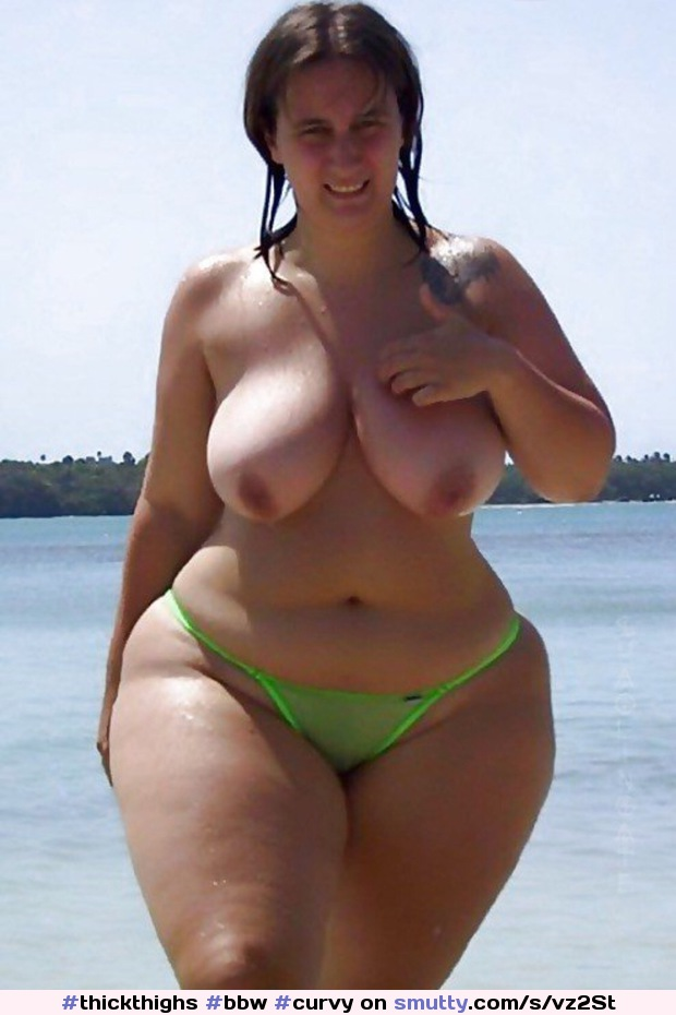 #thickthighs #bbw #curvy #bigtits #WideHips #bikini #thickthighs #topless #PublicNudity