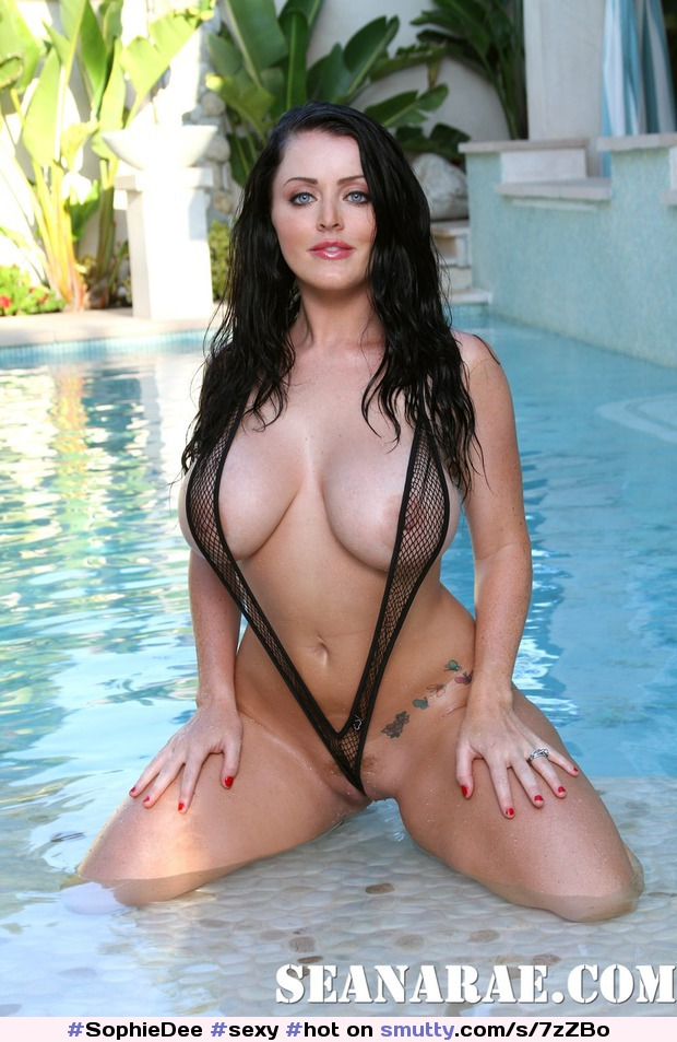 Brunette wet milf with big boobs