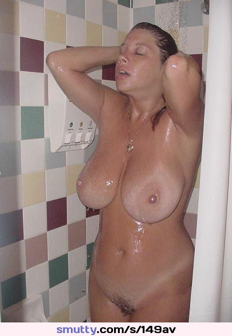 #mom forgot her towel so being the good #son I went to the #bathroom to wait #mild #mommy #cougar #bigboobs #hangers #tanlines #pussy #nude