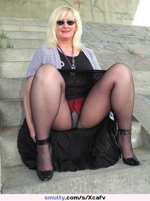 Bbw Upskirt In Legs In Heels