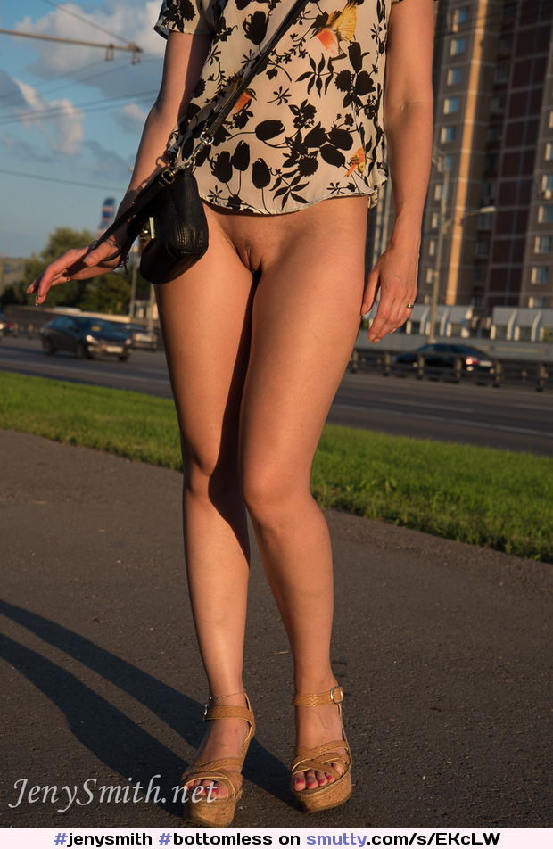 publicflashing, public, highheels, JenySmith Pictures & Videos | #jenysmith #bottomless