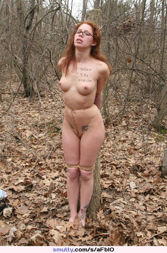 Babe gets stripped, tied up and fucked outdoor in public places